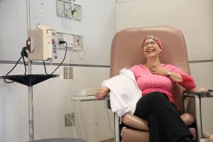 laughing at chemo